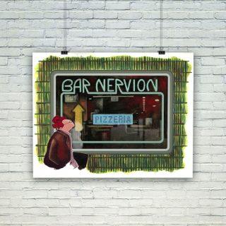 póster ilustrado bar nervión