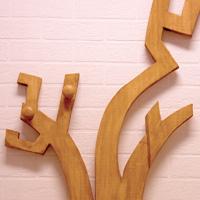 perchero madera infantil