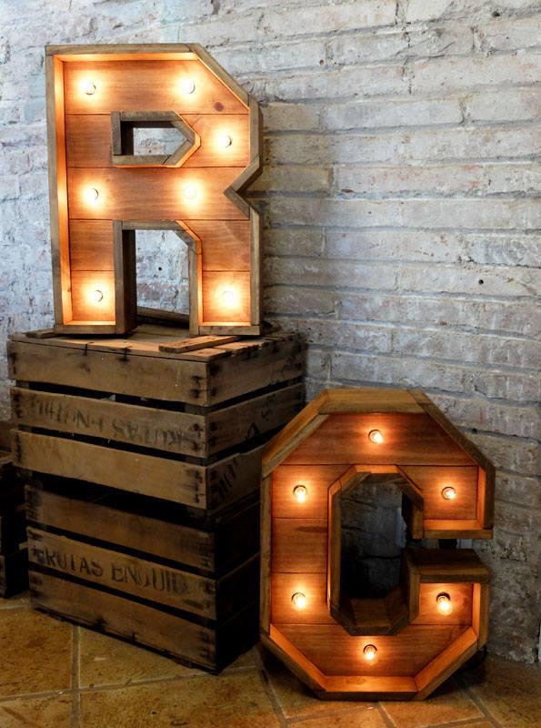 letras madera palet
