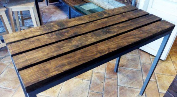 mesa hierro madera