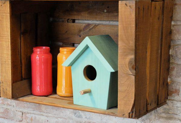 casita pájaros madera
