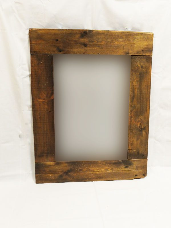 espejo marco de madera