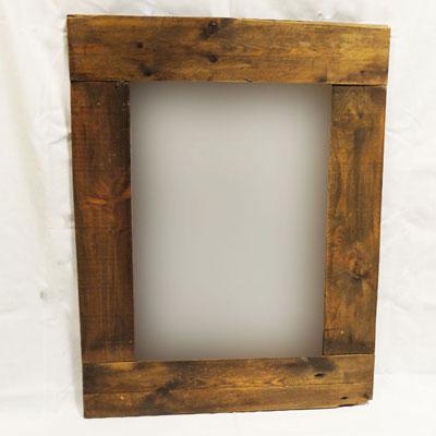 espejo rústico madera