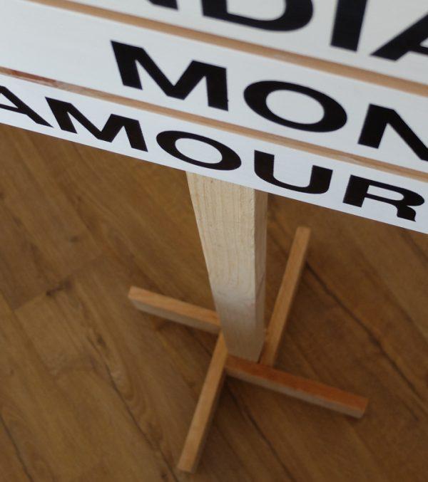 pie madera poste