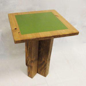 taburete rústico madera