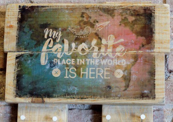 cuadro madera colgador