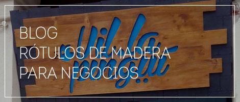 rótulos de madera