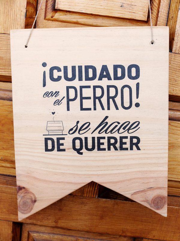 cartel madera decorativo