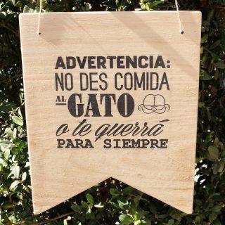 cartel madera deco
