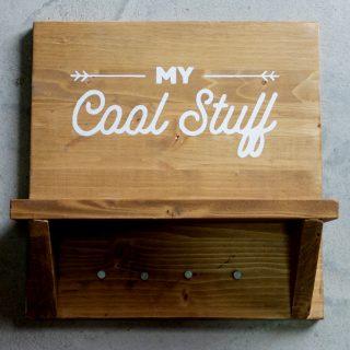 colgador madera rústico