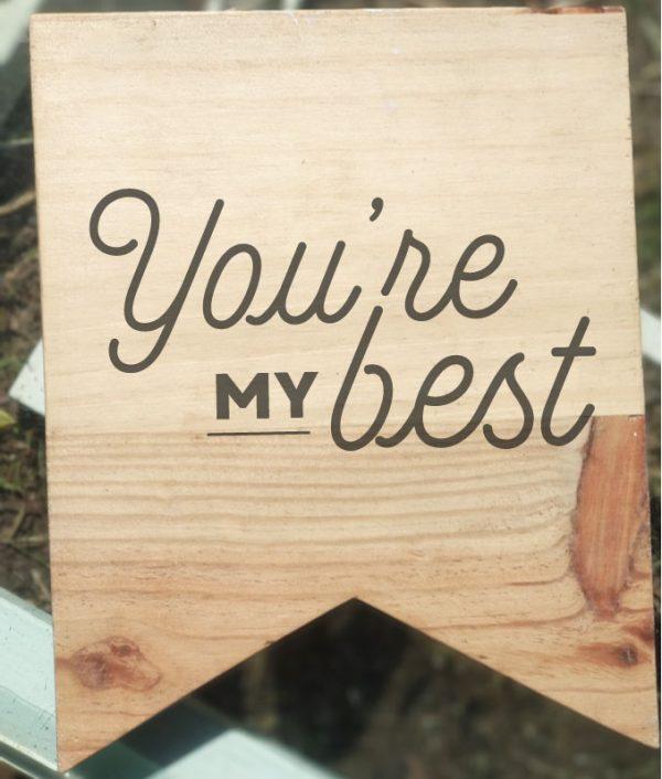 cartel madera mensaje