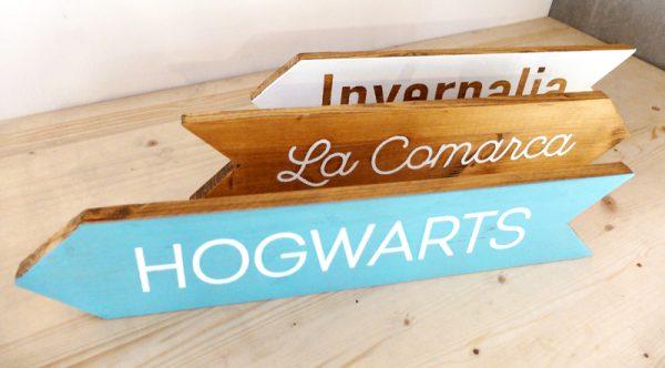 flechas de madera personalizadas
