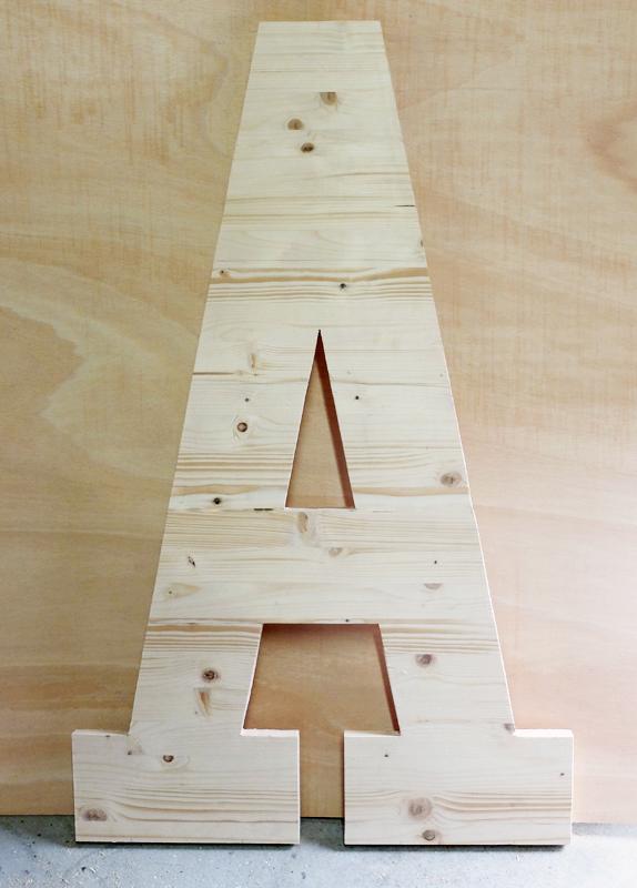 letra grande madera decoración