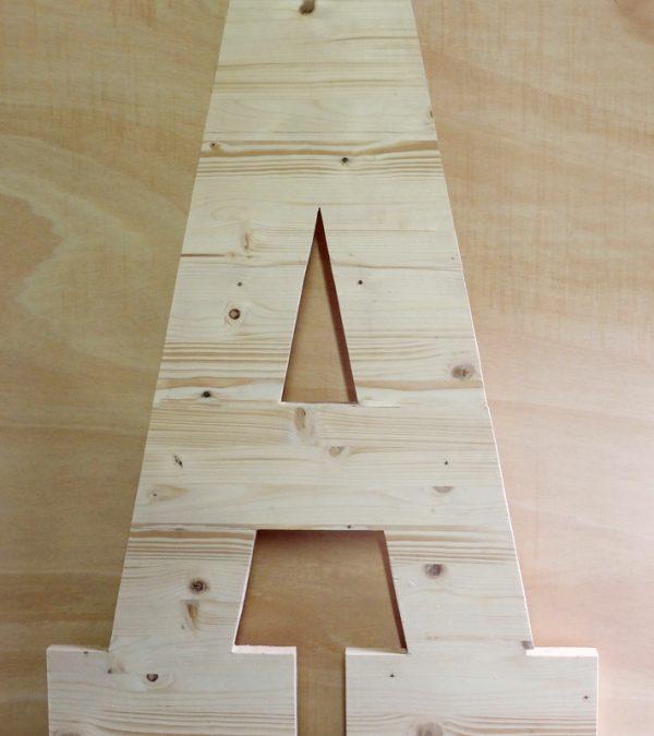 letra madera xxl para decorar
