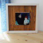 marco de fotos en madera