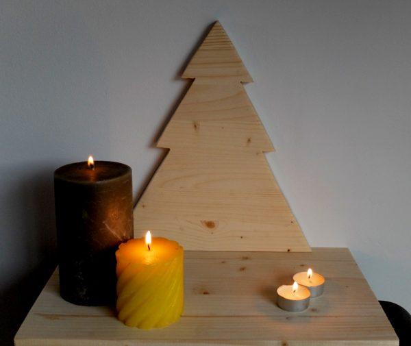centro mesa navidad madera