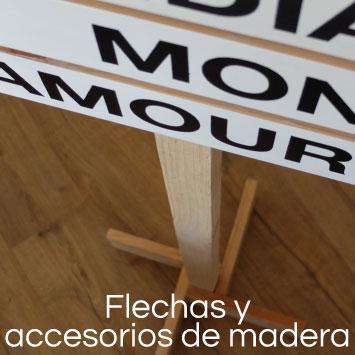 flechas de madera